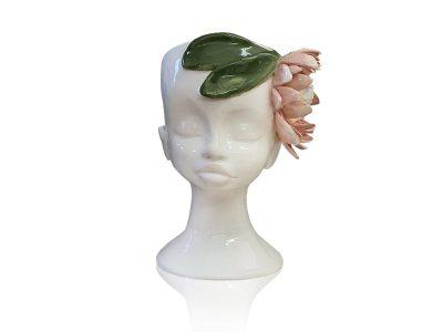 White Stoneware protea