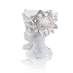 Vase, White Protea