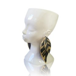 Vase, Black and Gold earrings