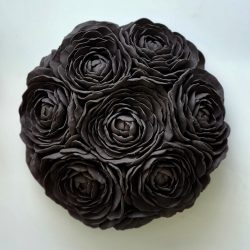 Wall Hanging_Large Black Flowers