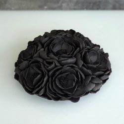 Wall Hanging_Medium black flowers