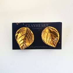 porcelain gold leaf studs